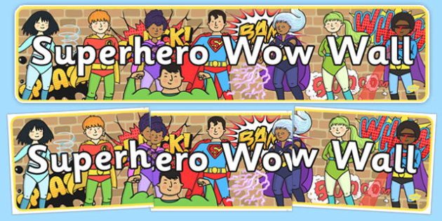 Superhero Wow Wall Display Banner - superhero, wow wall, display banner, display, banner, wow, wall