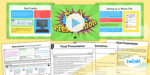 Computing: Photo Stories: Final Presentation Year 4 Lesson Pack 6