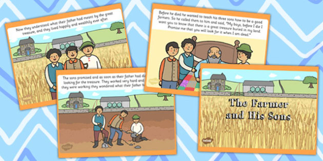 The Farmer and His Sons PowerPoint - australia, farmer, sons