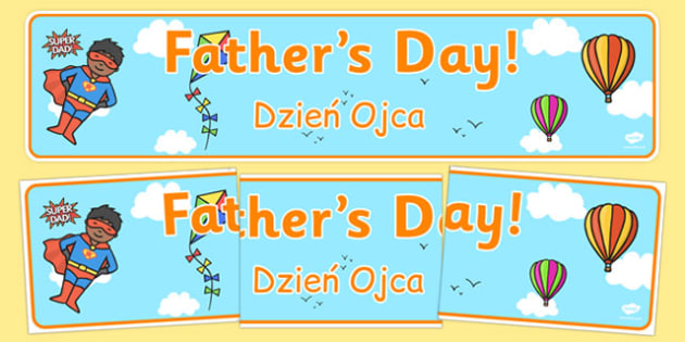Father's Day Display Banner Polish Translation - polish, dad, father, header, display header