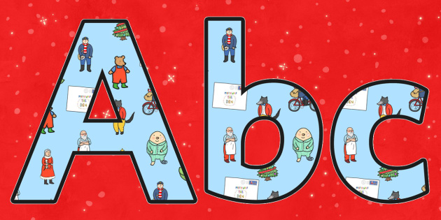 Display Lettering Editable to Support Teaching on The Jolly Christmas Postman - letters