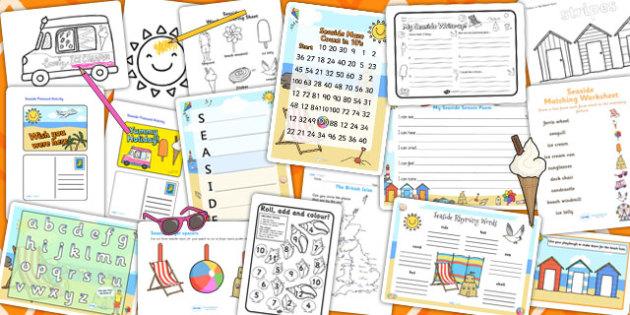 Seaside Activity Pack - activities, classroom activities, games