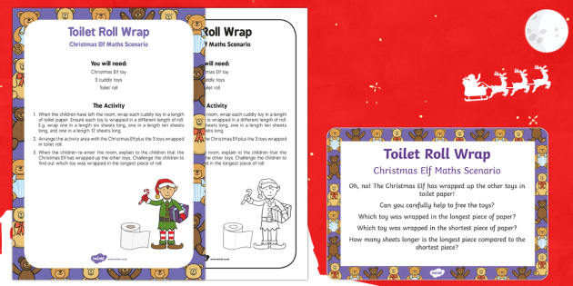 Toilet Roll Wrap Christmas Elf Maths Scenario