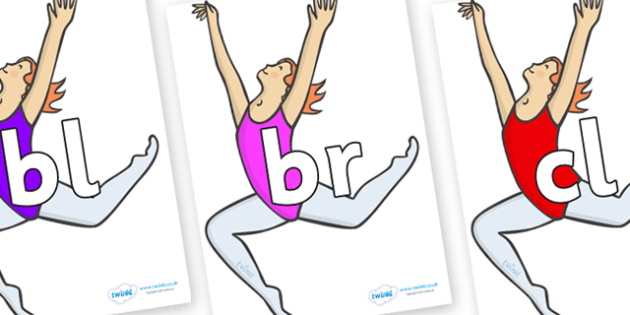 Initial Letter Blends on Ballet Dancers - Initial Letters, initial letter, letter blend, letter blends, consonant, consonants, digraph, trigraph, literacy, alphabet, letters, foundation stage literacy