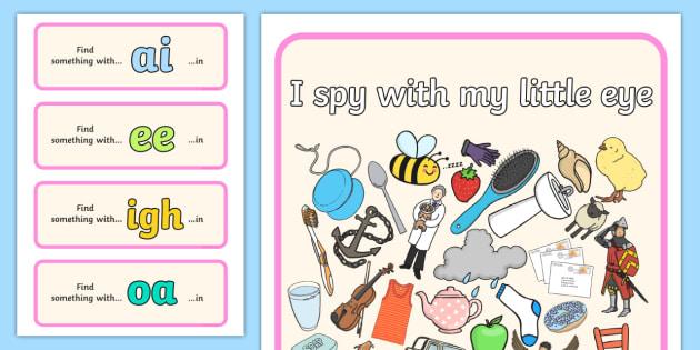 I Spy Phase 3 Graphemes 2 - I Spy, phase 3 graphemes, activity, phase 3, graphemes
