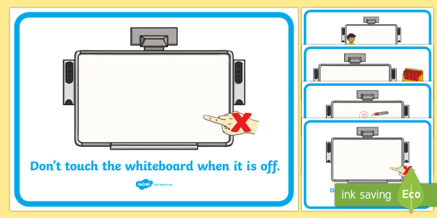 Interactive Whiteboard Rules Display Posters - interactive whiteboard rules, IWB, behaviour, golden rule, classroom rules, behaviour management