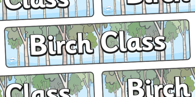 Birch Class Display Banner - Birch class, tree, class banner, class display, classroom banner, classroom areas signs, areas, display banner, display