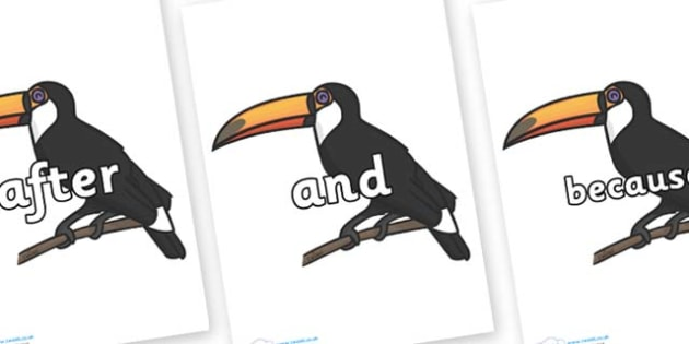 Connectives on Toucan - Connectives, VCOP, connective resources, connectives display words, connective displays