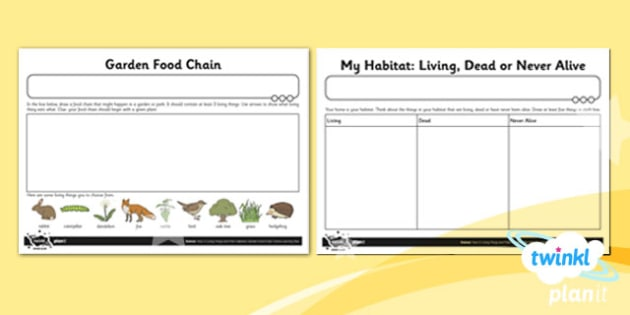 Science: Living Things and Their Habitats Year 2 Unit Home Learning Task