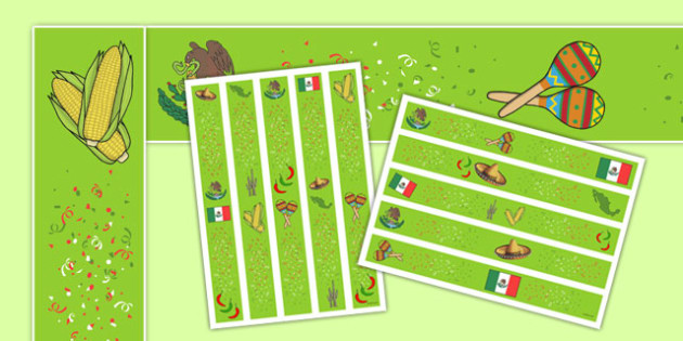 Cinco de Mayo Display Border - usa, america, cinco de mayo, display border, display, border
