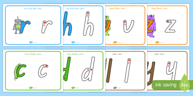 Letter Formation Display Posters