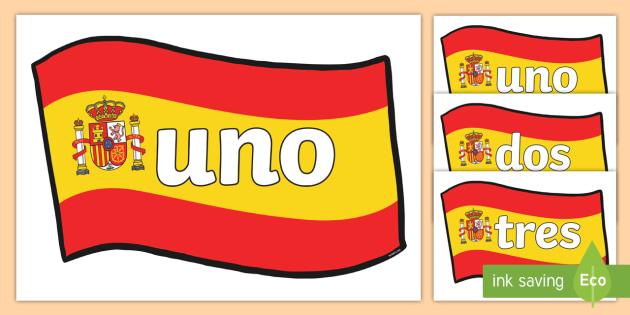Spanish Numbers 0-20 Posters - spanish number posters, spanish number words, spanish numbers, spanish language, languages, spanish numbers to 20 on flags