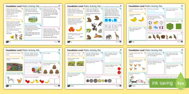 Foundation Maths Activity Mats-Australia