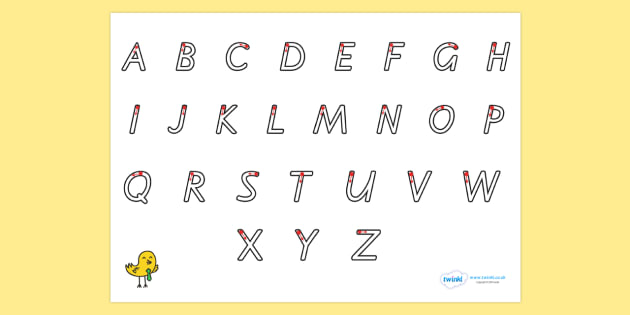 Letter Formation Alphabet Handwriting Sheet Uppercase - alphabet