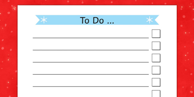 Christmas Themed To Do List - christmas, themed, to-do list, to-do, to do, list