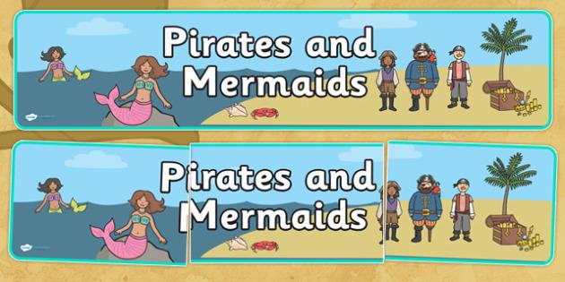 Pirates and Mermaids Topic Display Banner - pirates and mermaids display banner, pirates and mermaids, pirates display banner, mermaids display banner