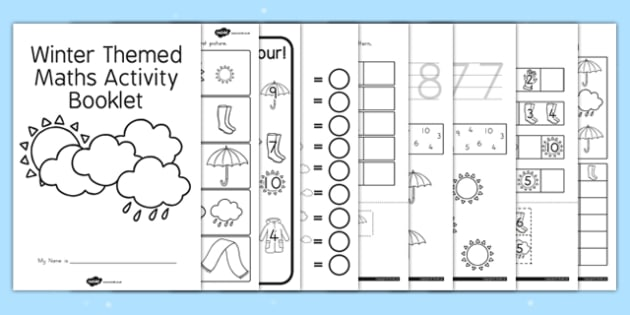 Winter Themed Maths Activity Booklet - seasons, weather, numeracy