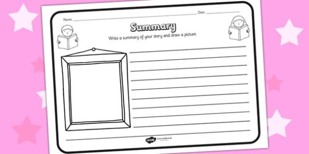 Summary Comprehension Worksheet - summary, comprehension, comprehension worksheet, character, discussion prompt, reading, discussions, summary worksheet