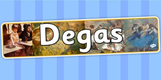 Degas Display Banner - art, artist, header, display, design