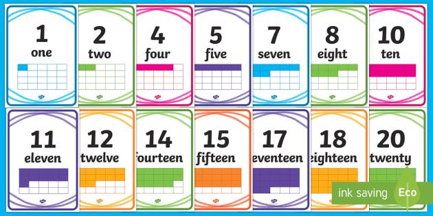 Crayon Theme Display Numbers - New Zealand, Back to School, crayon theme,numbers 1 - 20, maths, Year 1, back to school, beginning o