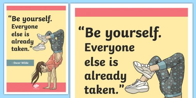 Wilde Inspirational Classroom Quote Display Poster - usa, america, inspirational quote, display, motivation, inspiration, Wilde