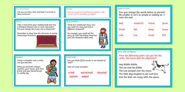 Literacy Challenge Cards - literacy, challenge, cards, flashcards, word cards, playcript, perspective, changing, difficult, challenges, tricky, KS2, words