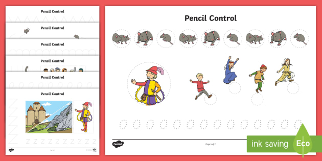 The Pied Piper Pencil Control Sheets - control, pied piper, sheet