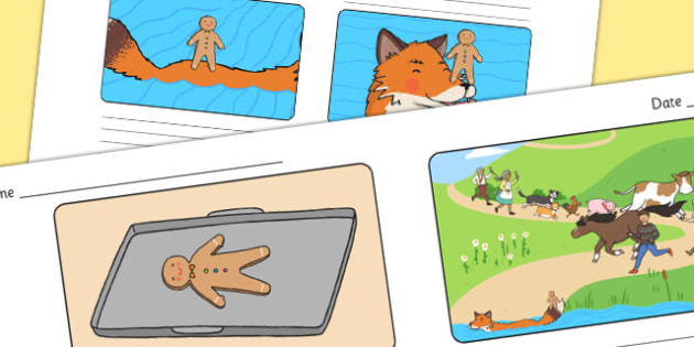 The Gingerbread Man Storyboard Template - storyboard, gingerbread man