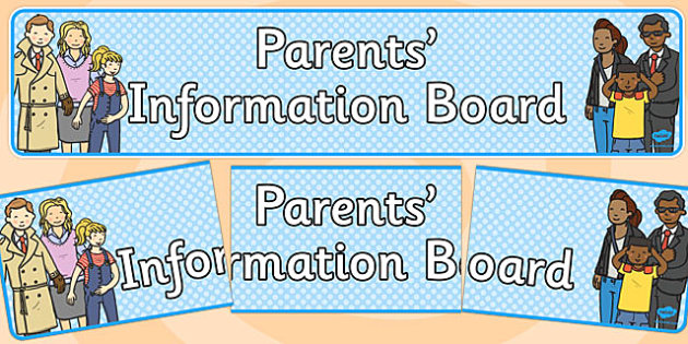 Parents Information Board Banner - display, parent, SLT, KS1, KS2, banner, header, title