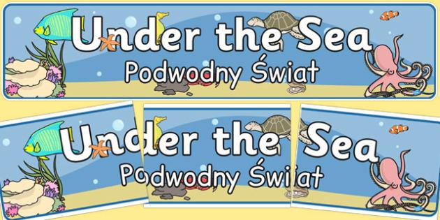 Under the Sea Banner Polish Translation - polish, under the sea