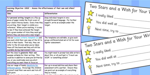 Assess the Effectiveness of Their Own and Others Writing Lessons
