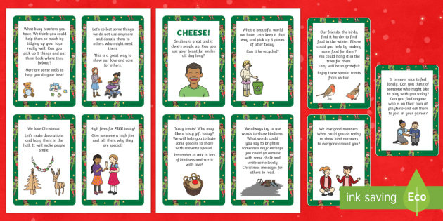 The Kind Christmas Elves Kindness Cards