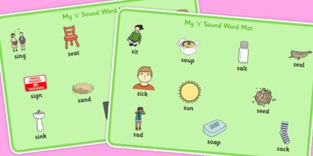 Initial s Sound Mat - sounds, letters, s, sound mat, writing aid