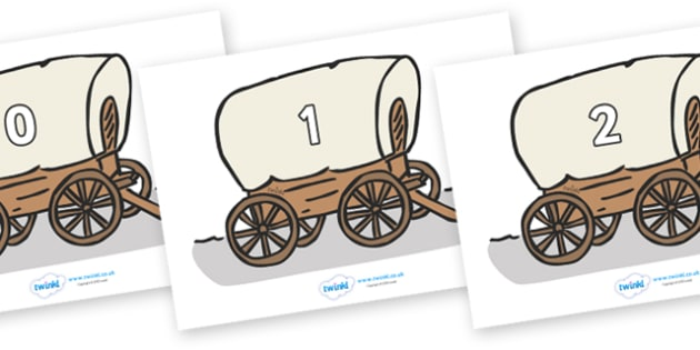 Numbers 0-31 on Wagons - 0-31, foundation stage numeracy, Number recognition, Number flashcards, counting, number frieze, Display numbers, number posters