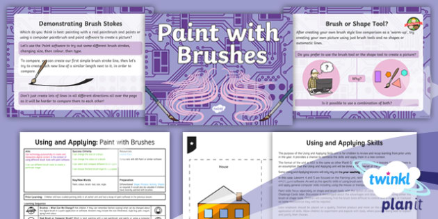 Computing: Using and Applying: Paint with Brushes Year 1 Lesson Pack 5