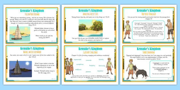 Kensuke's Kingdom Challenge Cards - stories, storybook, challenges