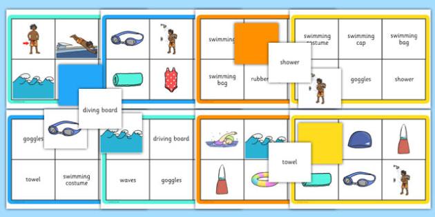 Swimming Pool Lotto Game - swimming, pool, lotto, game, activity