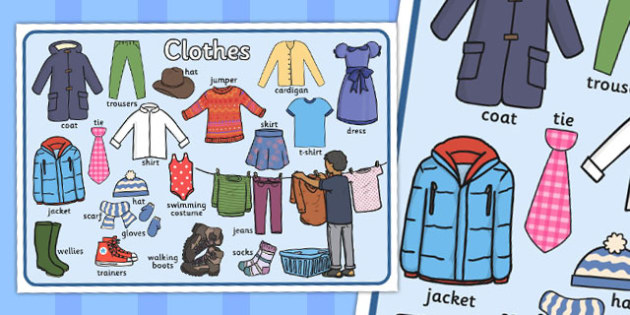 Large Clothes Display Poster - clothes, display, poster, large