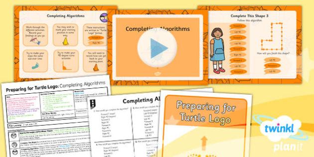 PlanIt Computing Preparing for Turtle Logo Completing Algorithms