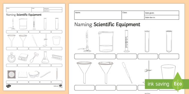 naming scientific equipment homework activity sheet homework. Black Bedroom Furniture Sets. Home Design Ideas