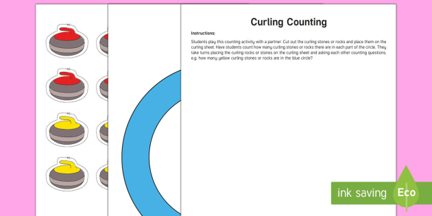 Curling Counting Activity - Winter Resources, curling, conservation of number, quantity relationships, number sense and numerati