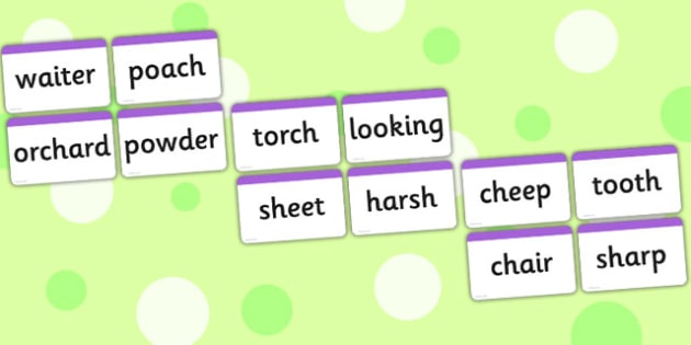 Words with a Combination of two Phase 3 Graphemes Word Cards - Phase 3, grapheme, digraph, word using phase 3 graphemes, GPC, GPCs, Phase three, Word cards, DfES Letters and Sounds, Letters and sounds, phase 3 activity