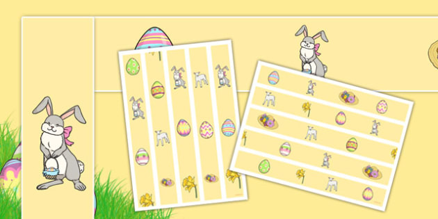 Easter Display Borders - Easter, Display border, border, display, Easter, bible, egg, Jesus, cross, Easter Sunday, bunny, chocolate, hot cross buns
