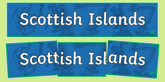 Scottish Islands Display Banner-Scottish