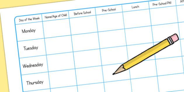 Childminding Ratio Grid - child minder, ratio, grid, child ratio