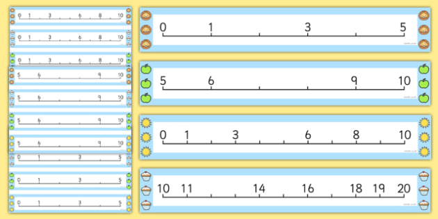 Counting in 1s Missing Numbers Number Line - counting, number
