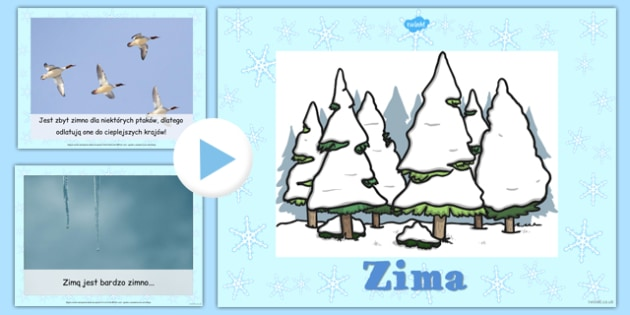 Winter Information PowerPoint Polish - polish, winter, powerpoint, information
