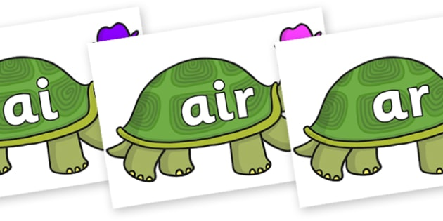 Phase 3 Phonemes on Tortoise - Phonemes, phoneme, Phase 3, Phase three, Foundation, Literacy, Letters and Sounds, DfES, display