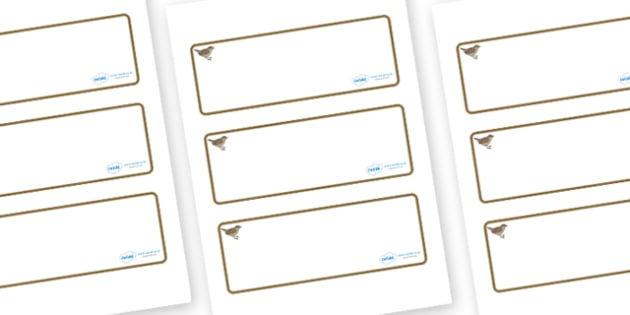 Nightingale Themed Editable Drawer-Peg-Name Labels (Blank) - Themed Classroom Label Templates, Resource Labels, Name Labels, Editable Labels, Drawer Labels, Coat Peg Labels, Peg Label, KS1 Labels, Foundation Labels, Foundation Stage Labels, Teaching