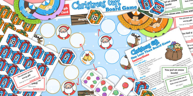One Less Than Christmas Board Game - games, activities, activity